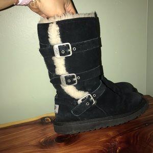 Ugg Australia tall zipper buckle boots size 13 kid